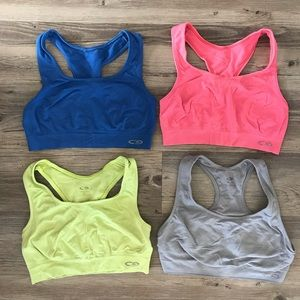 Set of 4 Size M Racerback Champion Sports Bras